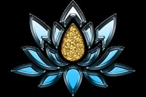 lotus bleu et jaune paix sérénité pierres naturelles protection énergie