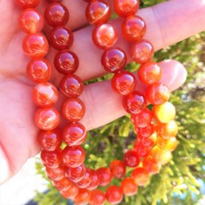 fils de perles de cornaline pierre naturelle