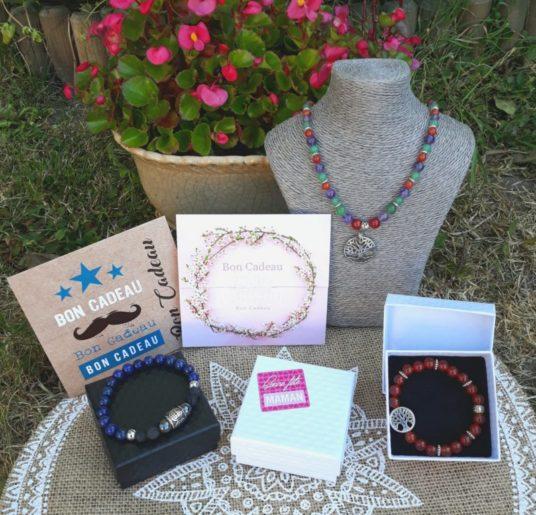 boite cadeau, carte cadeau femme et homme, bijou pierre naturelle