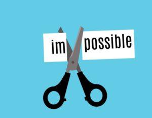 impossible possible ciseaux zen courage foi bleu
