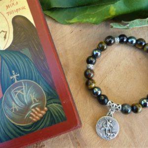 bracelet grande protection femme œil de fer hématite tourmaline énergie