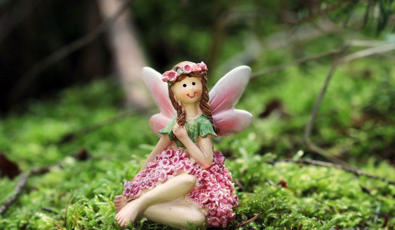 fée ailes roses bois nature forêt détente paix